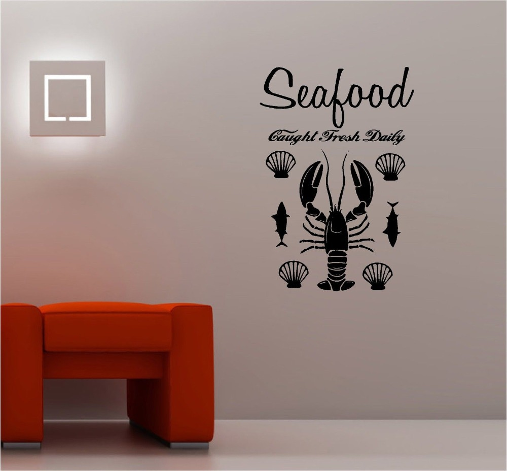 High quality seafood restaurant decor buy cheap seafood for Stickers decorativos de pared