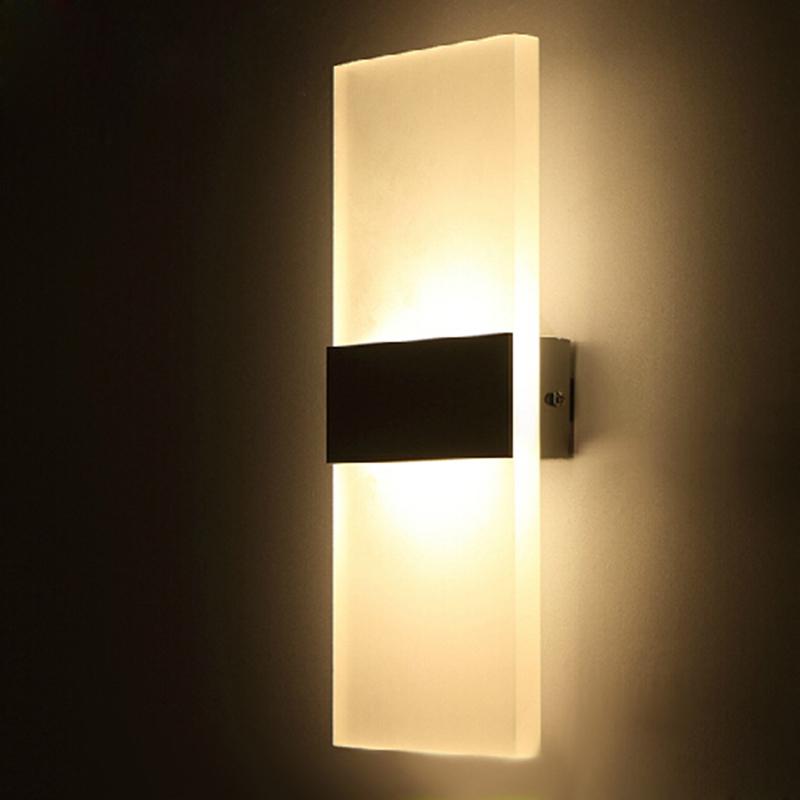 acrylic 12w led wall light up down ac220v ac110v led. Black Bedroom Furniture Sets. Home Design Ideas