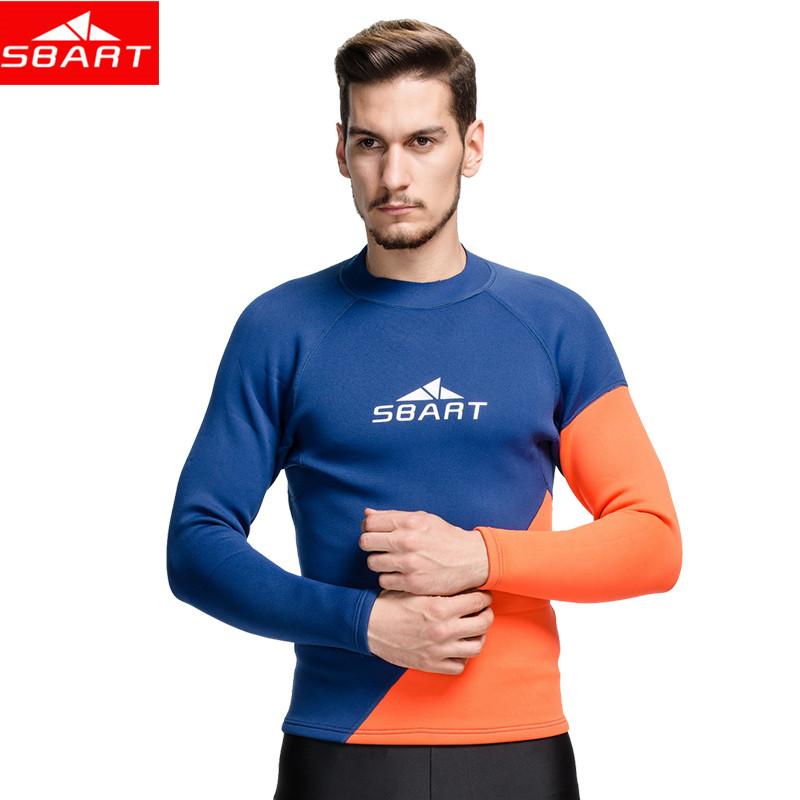 SBART 2016 2MM Wetsuit Men Neoprene Shirt Swim Dive Surf Shirts Long Sleeve Rash Guard Neopreno Keep Warm Plus Size M 3XL P740(China (Mainland))