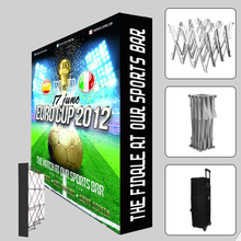 10ft straight Trade show Display Velcro Fabric Pop Up Stands booth banner backdrop wall with custom graphic print(China (Mainland))