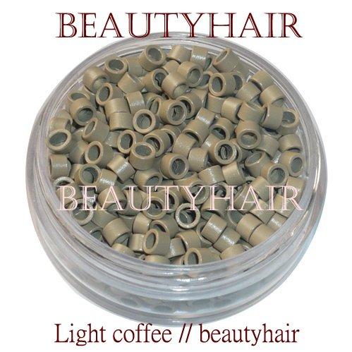 Freeshipping - 10000pcs 4.5mm Micro Aluminium Rings Without Screw / Black DarkBrown Brown LightBrown LightCoffee Blonde Auburn<br><br>Aliexpress