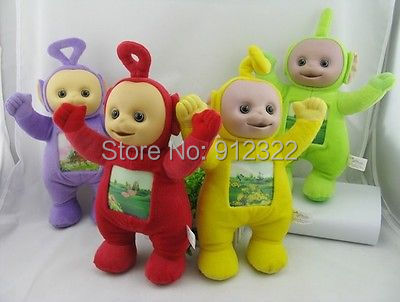 "Set of 4 NEW 12"" Teletubby Plush Toy Doll Teletubbies free sipping(China (Mainland))"