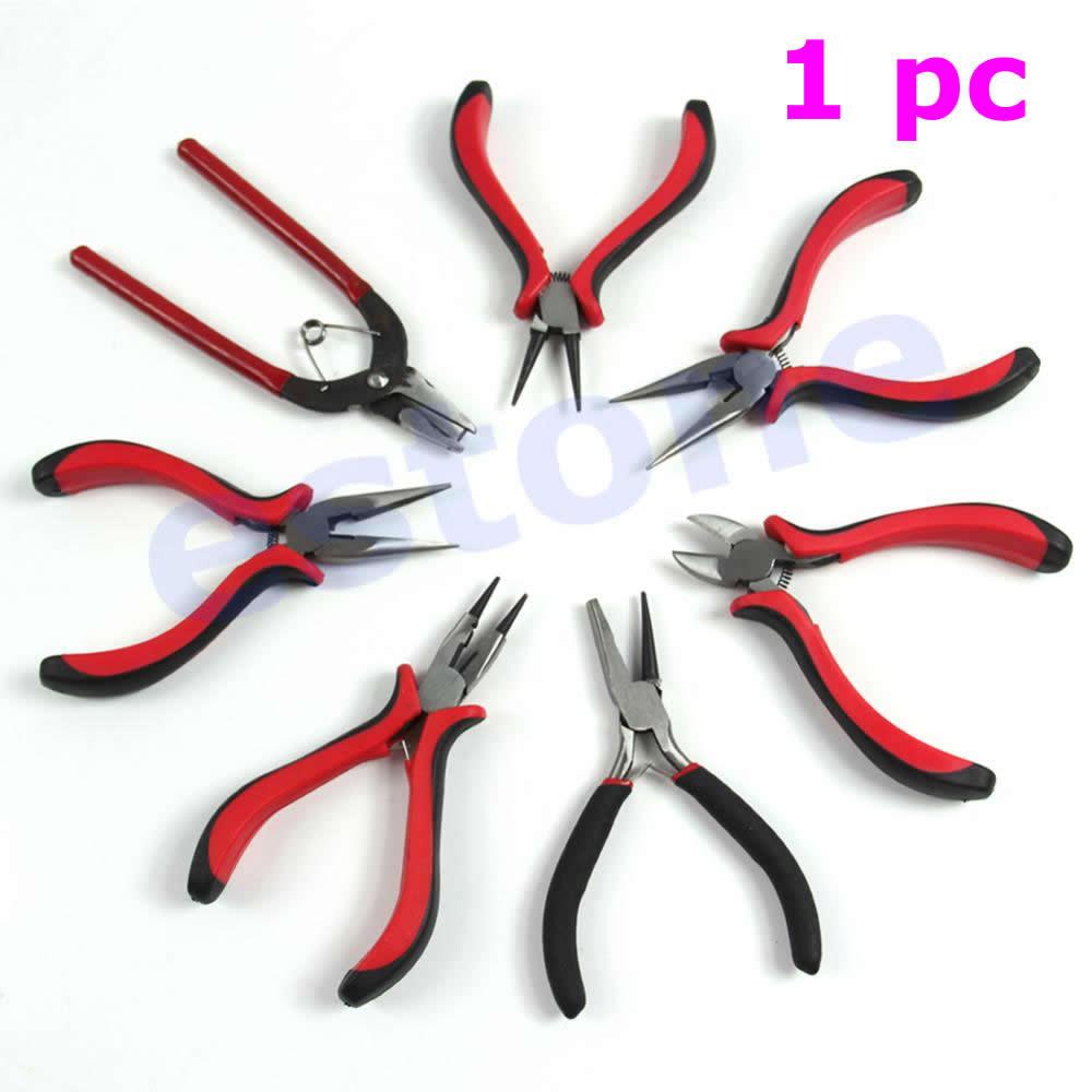 J35 Free Shipping Pro Bead Crimping Crimper Pliers Beading Jewelry DIY Craft Design Repair Tools(China (Mainland))