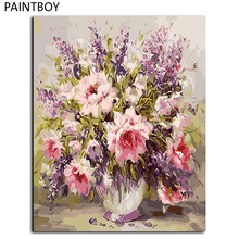 Buy Flower Wall Art Framed Pictures Painting By Numbers Handwork Canvas Oil Painting Home Decor For Living Room GX9580 for $5.95 in AliExpress store