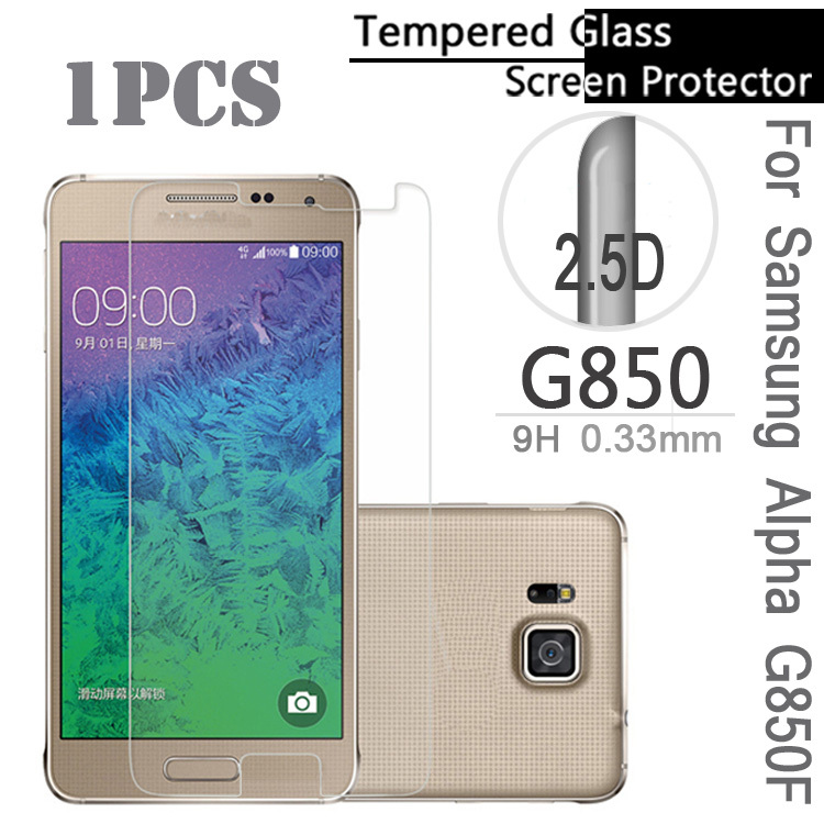 2.5D High Clear Anti-scratch Resistance High Temperature Tempered Glass For Samsung Alpha G850F G8508S G8509V(China (Mainland))