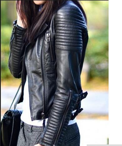 Женская одежда из кожи и замши Leather Jacket women 2015 jaqueta couro sml мужской ремень cinto couro marca