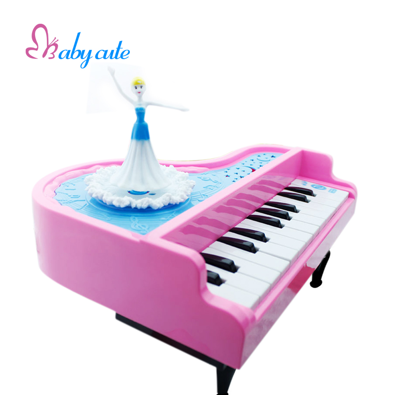 Kids Musical Toys Mini Electronic Piano Lovely Princess Dancing Music Light Sound Early Learning Intelligence Development Toys(China (Mainland))