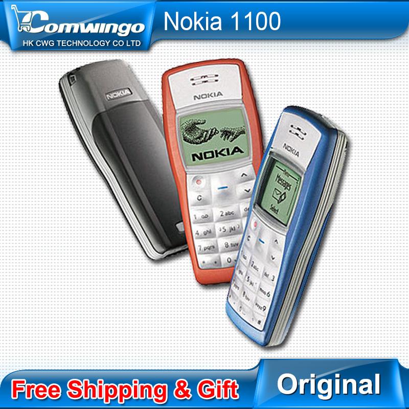 Free shipping Original Nokia 1100 Unlocked nokia 1100 GSM mobile phone Support Russian Hebrew Spanish(China (Mainland))