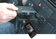 Universal Car Audio Cassette Adapter 3.5mm Plug Audio Cable For iPhone iPod CD MP3 Phone Music Player Vehicle Audio Convertor(China (Mainland))
