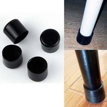 4pcs/set Black 22mm Chair Leg Caps PVC Plastic Feet Protector Pads Furniture Table Covers Round Bottom(China (Mainland))