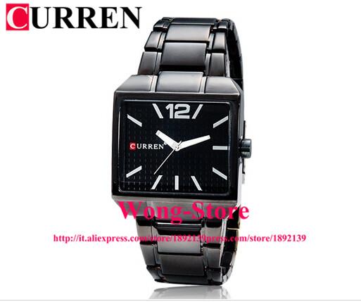 CURREN Stainless Steel Rectangular Quartz Watch Analog Wrist Watch Wristwatch Timepiece for Men Gentleman  8132<br><br>Aliexpress