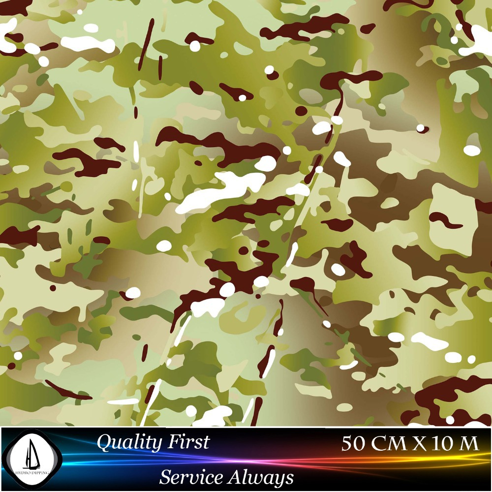 Free Shipping Hydro Dipping Hydrographic Film Transfer Leaves Camo N0.JM073 Width0.5M Hydrographics Water Transfer Printing Film(China (Mainland))