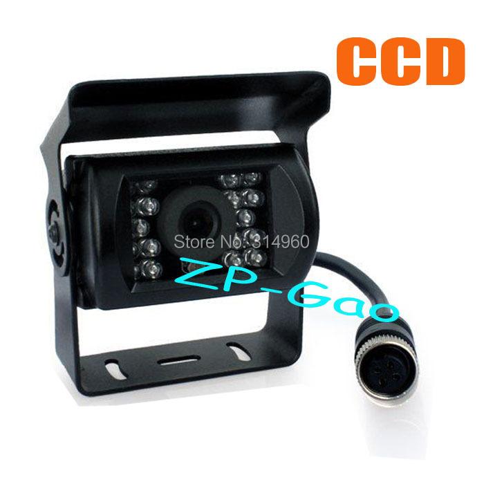 4 Pin Bus Trailer CCD 18 LED IR Night Vision Car Rear View Reverse Camera Bus Truck 12V Free Shipping(China (Mainland))