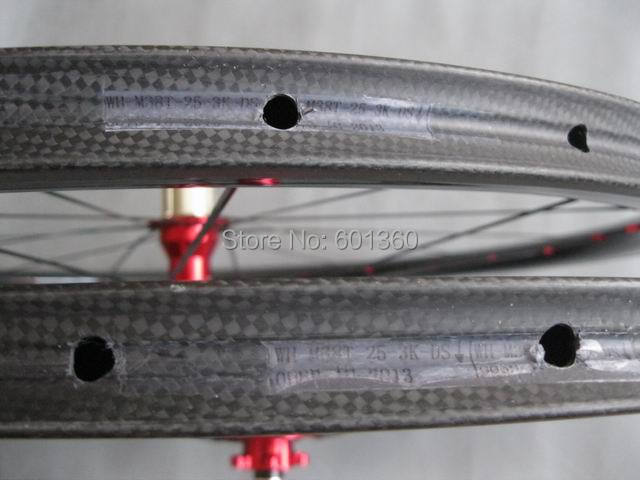700C carbon disc wheels,38mm tubular 25mm width U shape carbon wheels/Cyclocross bicycle wheelset(China (Mainland))