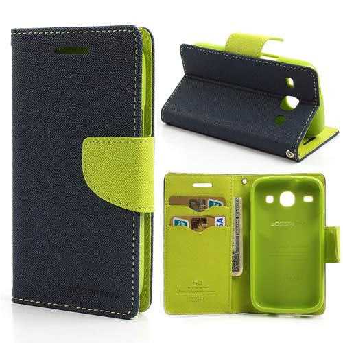 Mercury Wallet PU Flip Leather Case Cover With Credit Card Slots Stand For Samsung Galaxy Core I8260 I8262 GT-I8262 8260 8262