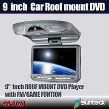 Free Shipping 9 inch Roof Mount Car DVD Player with 32bit Game+MPEG4+USB+SD+FM+IR(China (Mainland))
