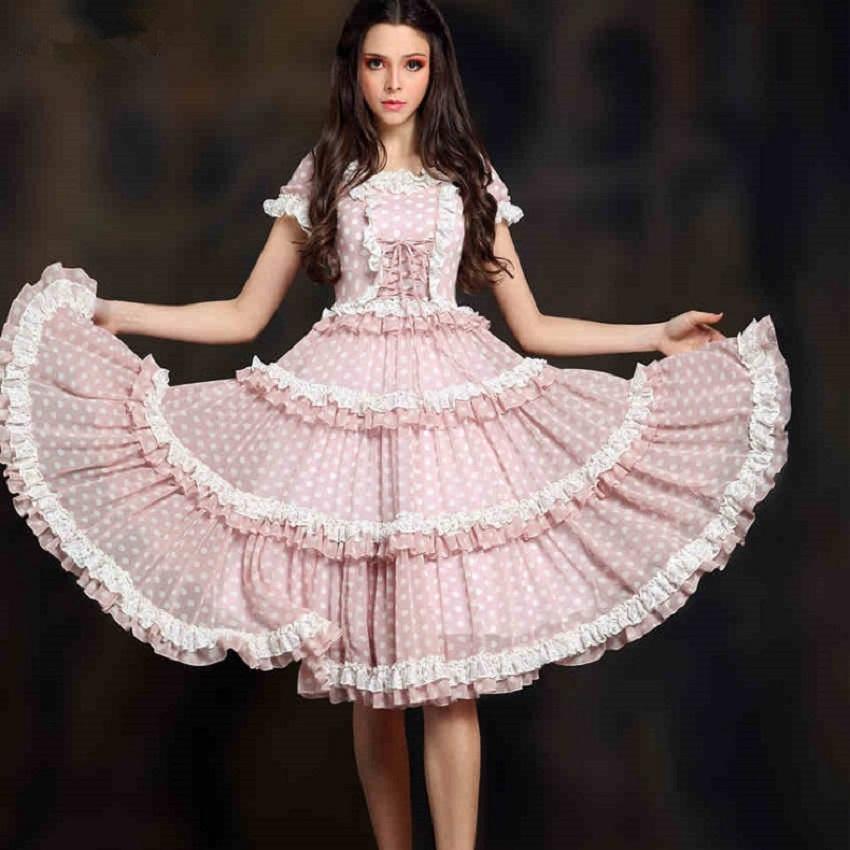 BOHOCHIC Women's Original Design Vintage Bohemian Lolita Falbala Puff Sleeve Slim Layered Swing Dinner Dress A50004X Boho Chic(China (Mainland))