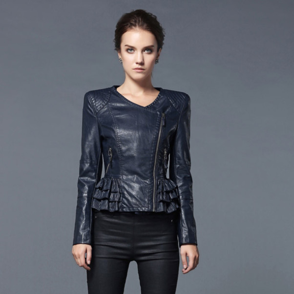 Navy leather jacket womens – Your jacket photo blog