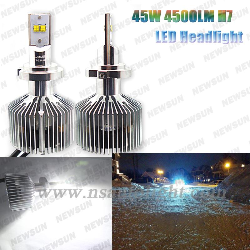 One set 2 PCS H7 Fog Bulb Super Bright 6000K 5000K 4000K 3000K Hight Power 90W Car Headlight Lamp High Quality Led Headlamp<br><br>Aliexpress