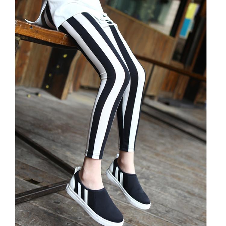 Babies Girls Black and White Skinning Leggings Pants Hight Elastic Skinny Pants 5pcs a lot <br><br>Aliexpress