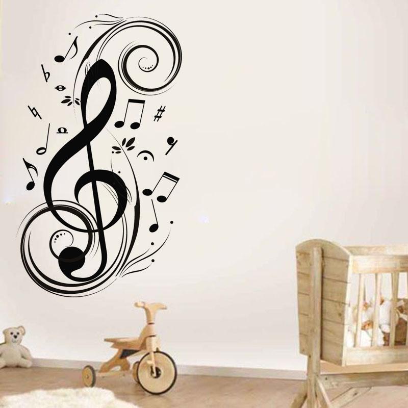 Achetez en gros mur d cor musique notes en ligne des for Decoration murale note de musique