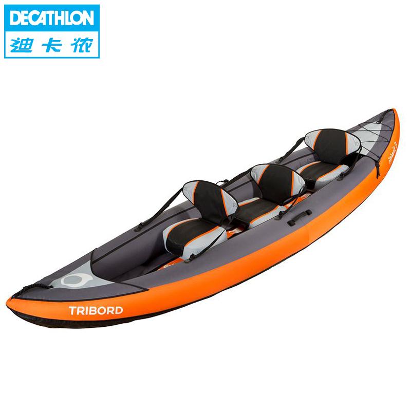 Inflatable boat kayak canoe three large portable inflatable rafting Rowboat(China (Mainland))