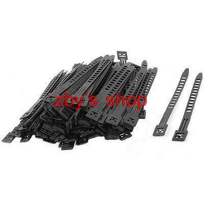 500 Pcs Black Adjustable Self-locking Nylon Cable Tie Fasten Strap 180 x 9mm<br><br>Aliexpress