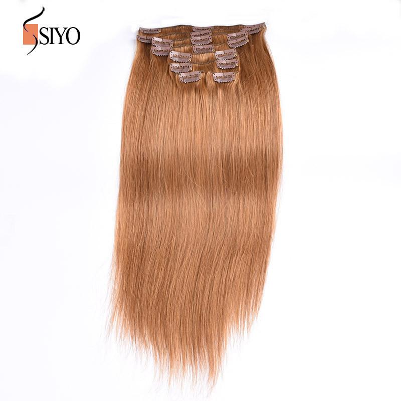 Brazilian Clip In Human Hair Extensions Brazilian Virgin Hair Straight Hair Clip Extensions Clip In Hair 8 Pcs 100g/Set