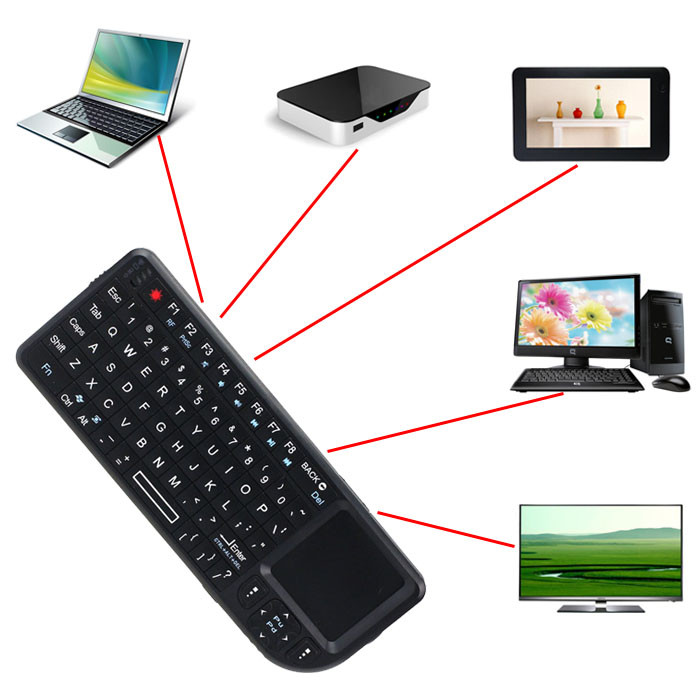 Rainbow 2.4G Wireless Keyboard with Mouse Touchpad for PC Notebook Android TV BOX Wholesale(China (Mainland))