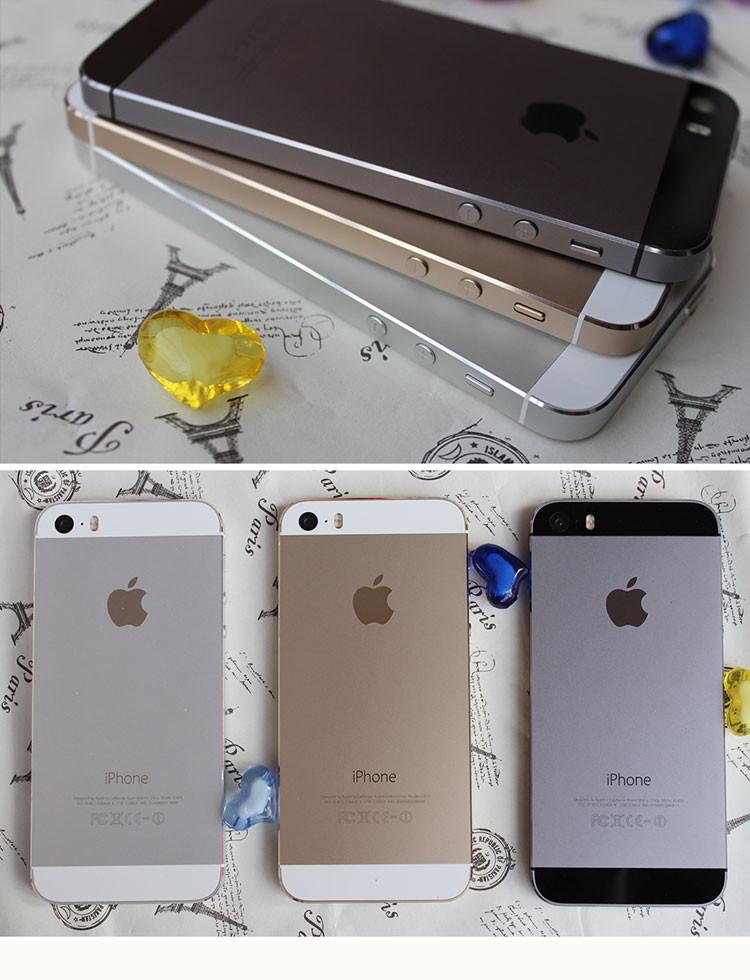 Original Factory Unlocked Apple iphone 5s phone 16GB / 32GB ROM IOS White Black GPS GPRS A7 IPS LTE Free Gift 1 year warranty