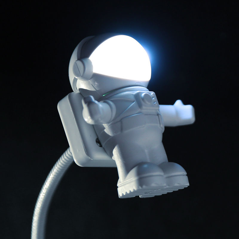 usb led luz de la noche creativa lindo nightlight espacio astronauta astronauta usb lmpara de luz