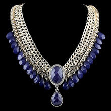 Multi-layer Chins and Beads Resin Stone Choker Necklace Fashion Jewelry Necklace 3 Colors for Women(China (Mainland))