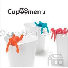 Free Shipping 10Pieces funny Cupmen Set of Three Cup ramen readiness indicators 3 Cupwomen Instant Noodle Figure home decoration(China (Mainland))