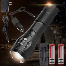 Outdoor T6 Zoomable 5 Modes 2500 Lumens LED Flashlight Torch Lights+Car Charger+Wall Charger+Battery+Battery Charger 2016 - fashiondeals store