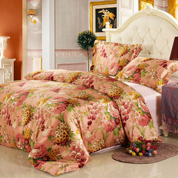 Pillow water of the families silk four piece set silk bedding mulberry silk bedding