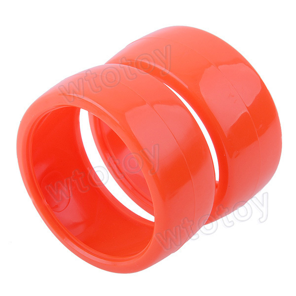 4 Pcs/lot 60mm Duroplasts Wheels For RC 1/10 1:10 Drift Car Bright Orange  20631