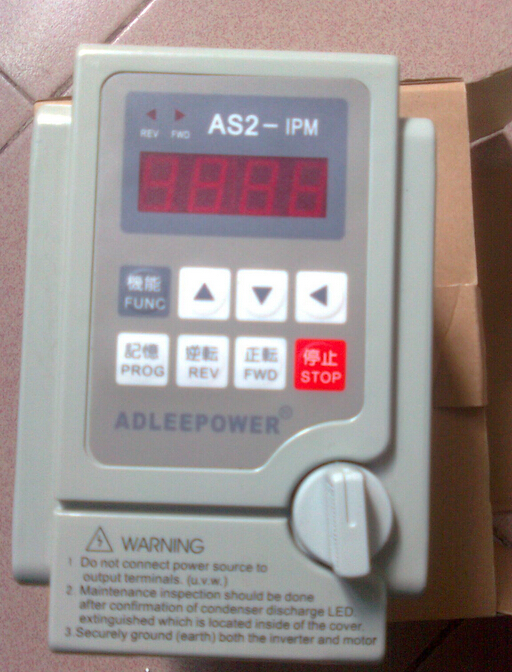 1Pcs 100% new Adlee power Inverter 220v 0.75kw AS2-107 or AS2-IPM drive 380v motor speed controller(China (Mainland))