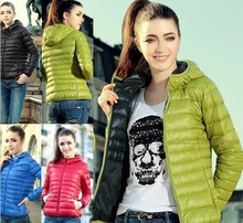 New 2016 Fashion Ladies Down Short Design Coat Winter Cotton-padded Jacket Women Slim Solid Zipper Outerwear(China (Mainland))