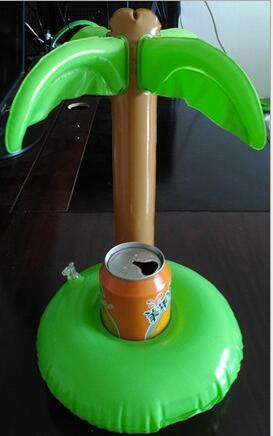 Summer Bath Toys Cute Drink Can Holder PVC Inflatable Floating Coconut Trees Toy Swimming Pool Bathroom Beach Water Toys(China (Mainland))