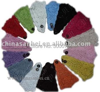 fashionable Handmade Knit Headwrap flower crochet Headband