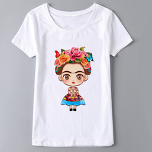 Buy Frida Kahlo Print Summer 2017 Casual White T Shirt Women Harajuku T-shirt Female Short Sleeve O-neck Plus Size Tee Shirt Femme for $6.38 in AliExpress store
