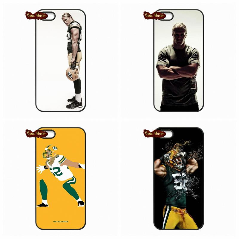 For iPhone 4 4S 5 5C 5S 6 6S Plus LG G2 G3 G4 HTC One M7 M8 iPod Touch 4 5 Clay Matthews green bay packers Phone Case Cover(China (Mainland))