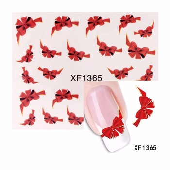 YZWLE 1 Sheet Water Transfer Nail Art Sticker Chic BOW Designs Watermark Decals DIY Decoration For Beauty Nail Tools 1365