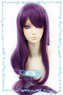 Tokyo Ghoul Kamishiro Rize 70cm long purple cosplay wig skin top<br><br>Aliexpress