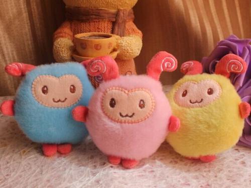 10PCS Kawaii NEW The Sheep 8CM Phone Strap Charm DOLL TOY ; Plush Stuffed TOY DOLL ; BAG Pendant TOY Wedding Bouquet TOY DOLL(China (Mainland))