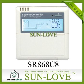 !!!12V SR868C8 Solar Water Heater Controller,Solar Collector Controller,Thermal Controller,LCD Display,Free Shipping