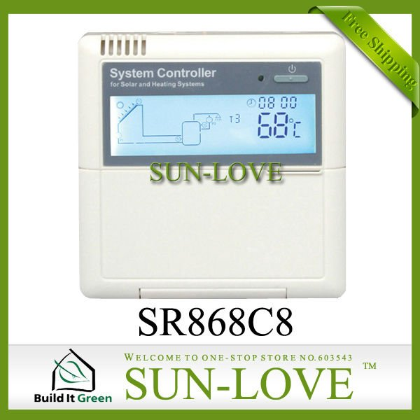 !!!12V SR868C8 Solar Water Heater Controller,Solar Collector Controller,Thermal Controller,LCD Display,Free Shipping(China (Mainland))