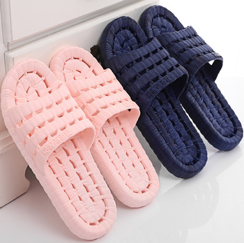 a pair PVC non-slip bathroom men slippers cut-outs Home Slippers Indoor Slippers men Summer shoes Free shipping 512