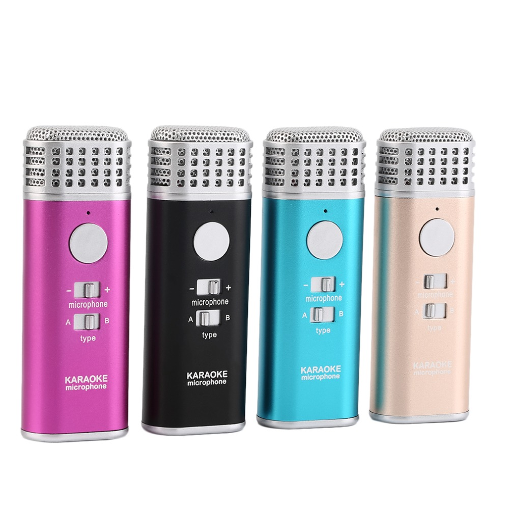 New Mini Singing KTV Home Microphone For Mobile Phone Laptop Portable Wholesale<br><br>Aliexpress