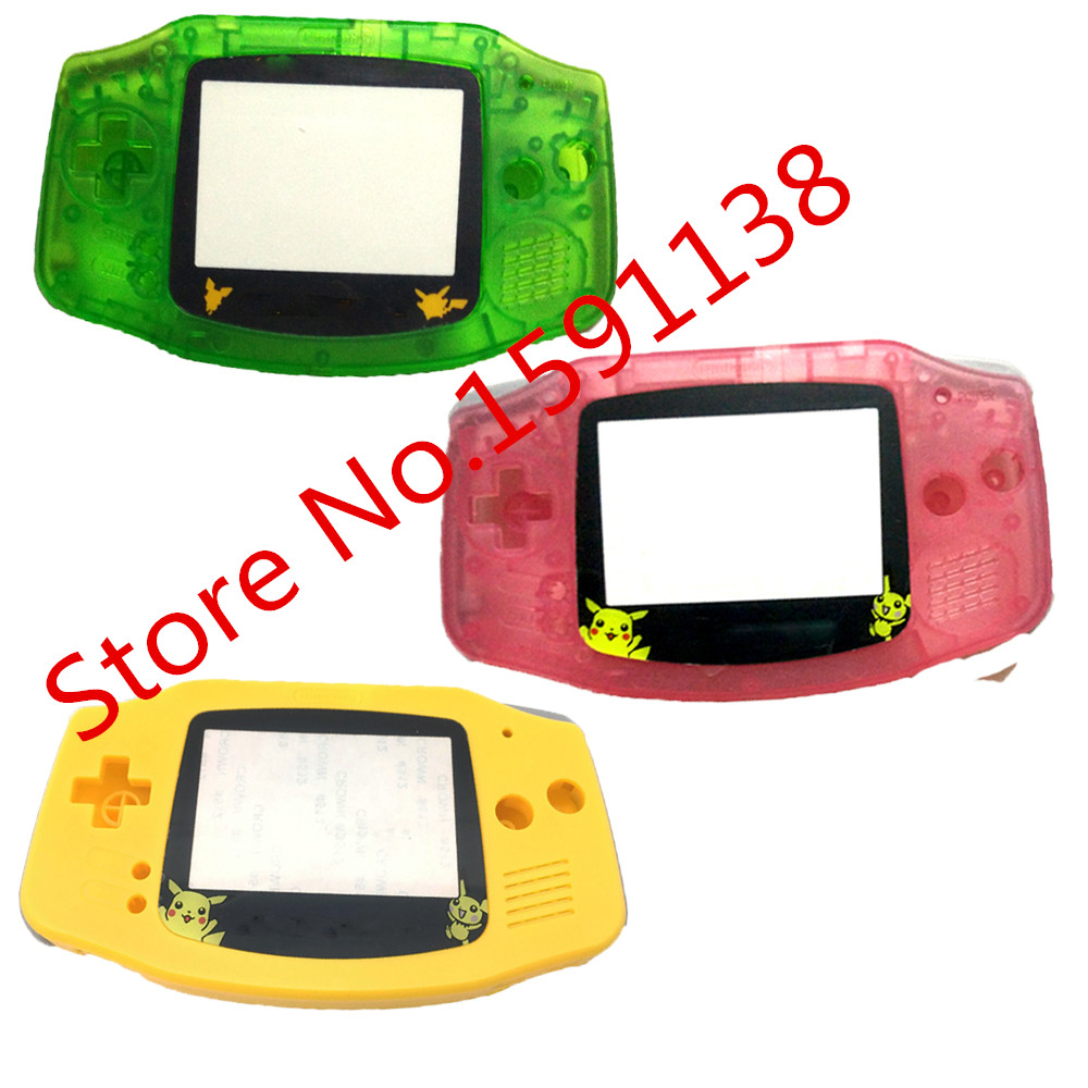 Hot 2PCS/LOT Limited Lens Full Housing Shell Cover For Gameboy Adavance GBA Console Case With Conductive Rubber Buttons Sticker(China (Mainland))